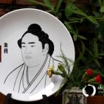 Đĩa gốm Nhật lớn họa tiết Sūmo