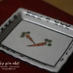 Đĩa hình chữ nhật vẽ tay – triện chìm (Có 5 đĩa) ( Đã Bán )
