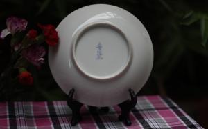 Đĩa gốm Arita họa tiết hoa ( Đã Bán )