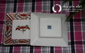Đĩa vuông gốm nhật Amari (Đã Bán)