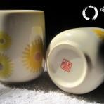 Ly gốm vẽ tay hoa văn cực đẹp ( Sold)