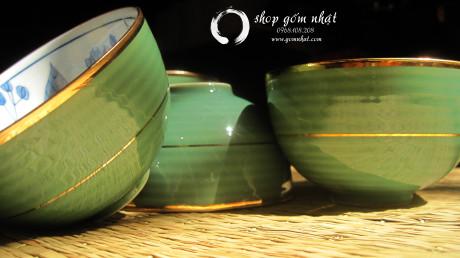 Bộ tách trà men xanh ( Đã Bán )