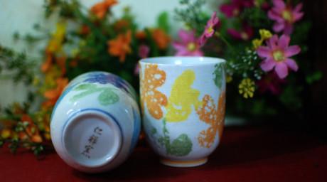 Ly gốm nhật hoa cách điệu vẽ tay (sold)
