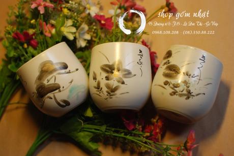 Ly trà Nhật vẽ tay