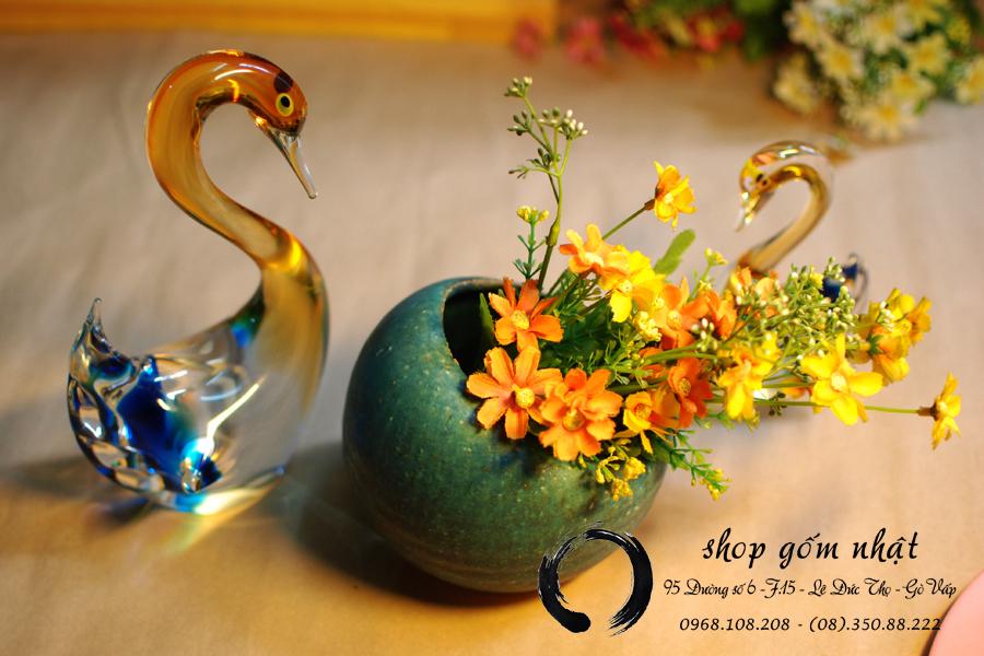 bình cắm hoa gốm nhật