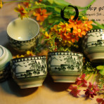 Bộ tách trà nhật vẽ tay sơn thủy (Sold)