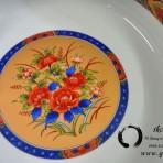 Đĩa trang trí ngũ sắc Gốm Nhật