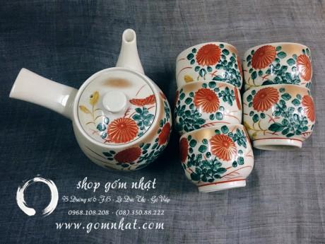 Bộ trà gốm nhật Kutani (Sold)